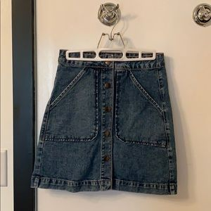 Forever 21 Button Up Jean Skirt